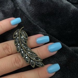 Jewelry - Feather Two Finger Ring